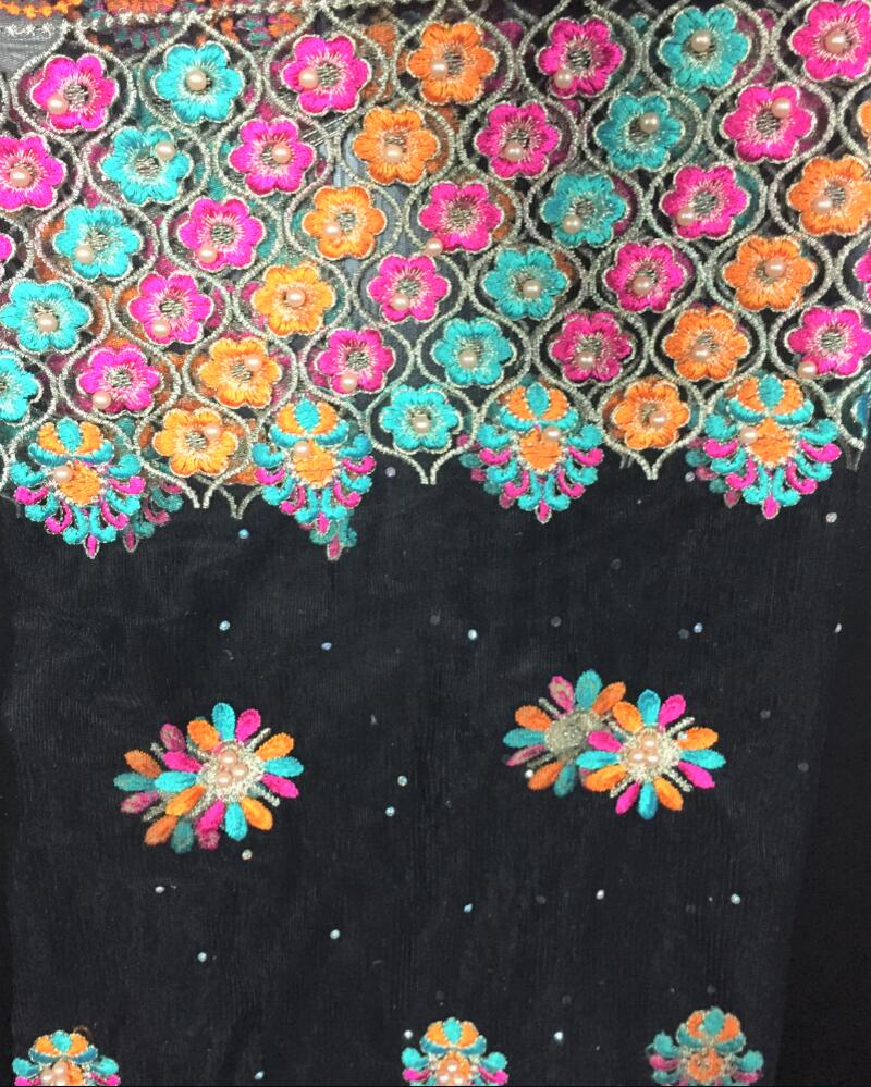 embroidery material for fashion wear
