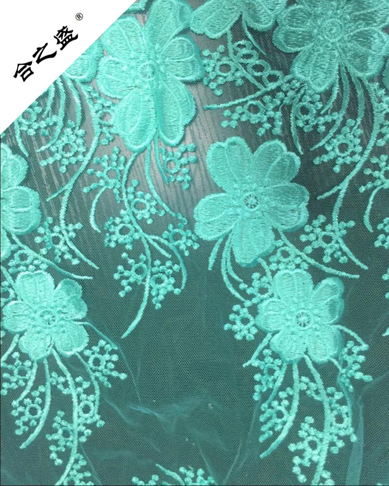 flower embroider mesh