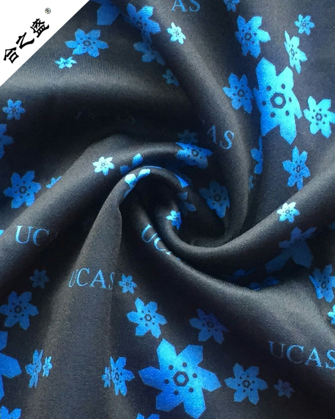 poly spandex scuba knit fabric in printing