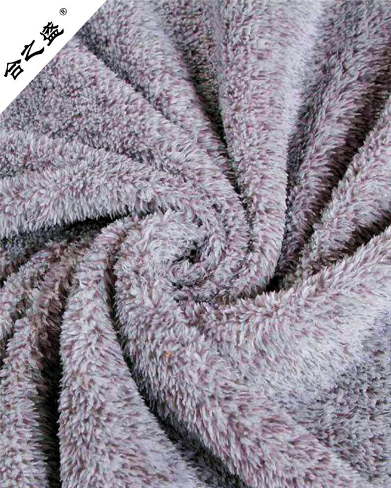 both side brushed cationic sherpa fleece customized