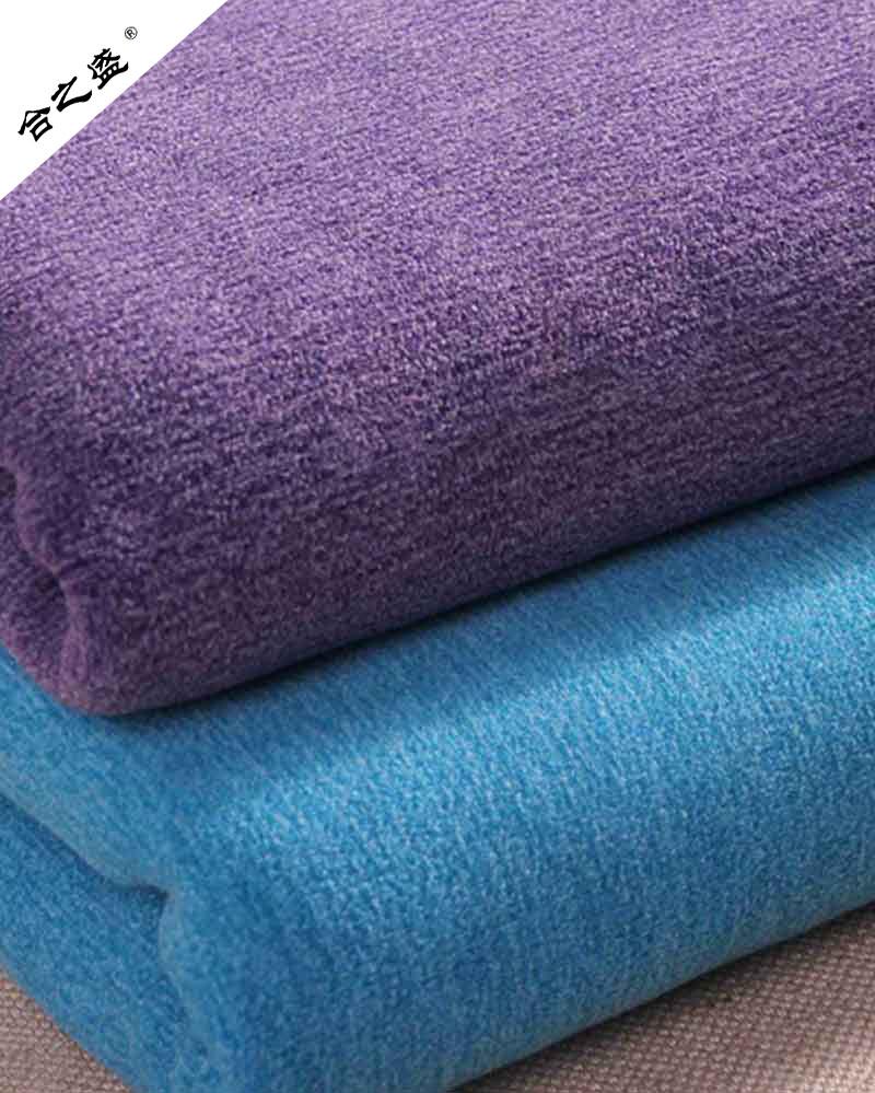 bicolor brushed fleece for coat