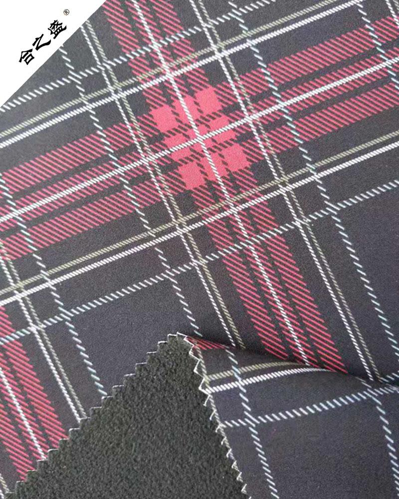 Chequer Printing Softshell Fabric