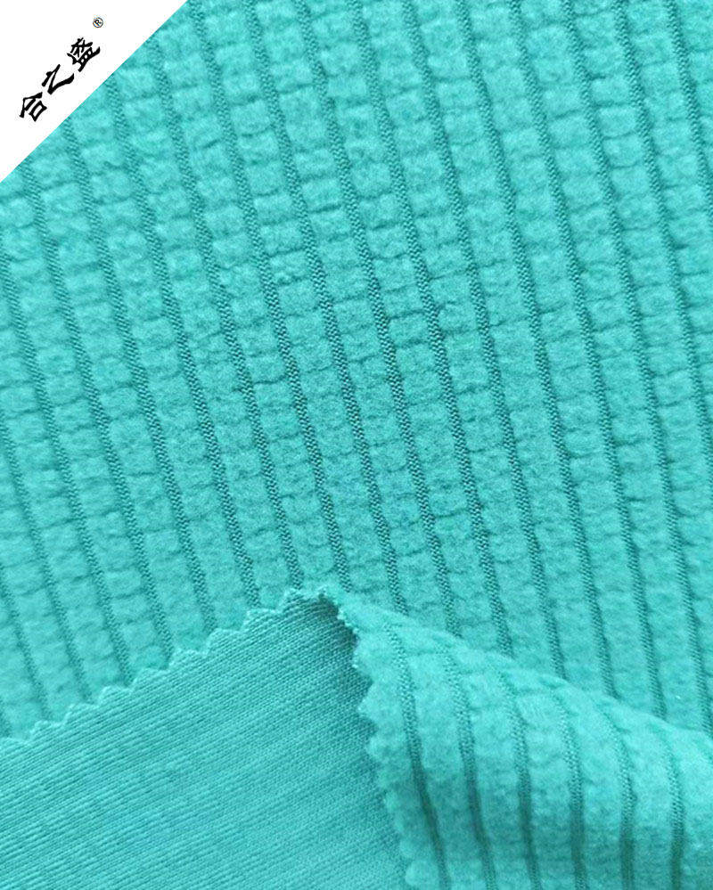 drop needle polar fleece 180gsm with chequer