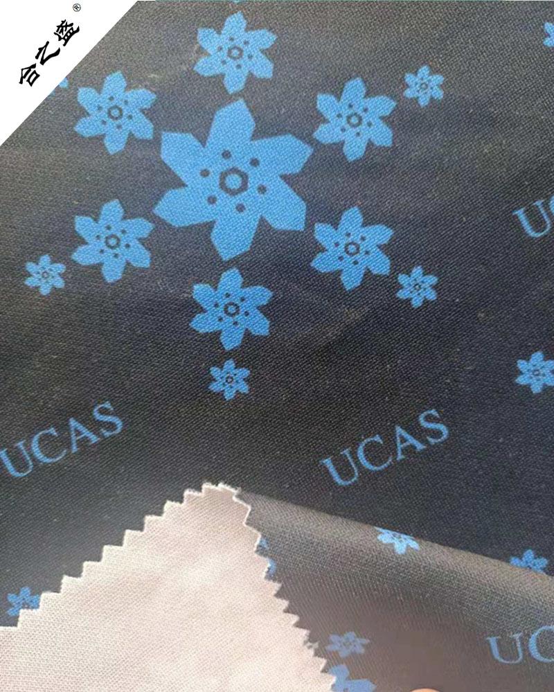 digit print spandex interlock fabric